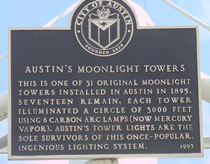 austin moon tower map Austin S Moonlight Towers Austin Texas austin moon tower map