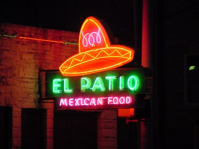 Austin TX Neon   El Patio Mexican Food