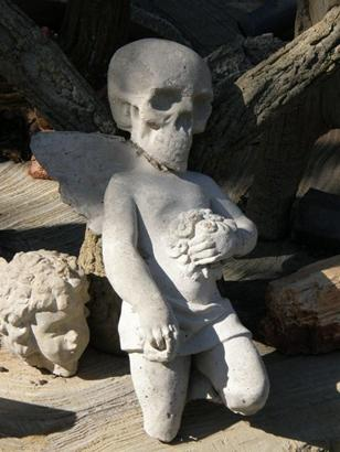Skull and Angel Statue