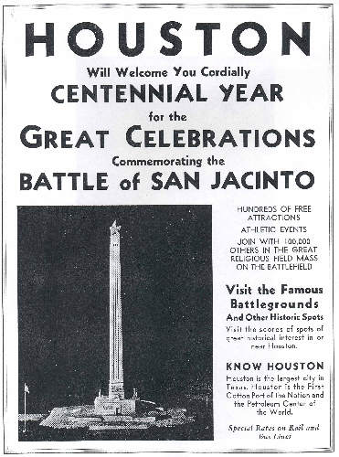 SJCA San Jacinto Monument Centennial Advertisement.