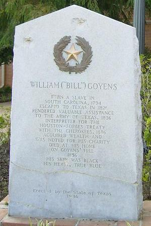 William Goyens TX Centennial Marker
