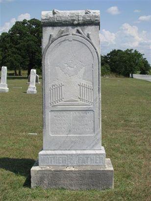 Antelope TX - Antelope Cemetery tombstone.