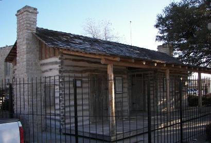 Old Cora, Comanche County dog trot cabin courthouse, Texas