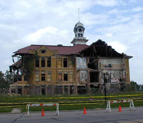 Denison High School, demolished in Texas