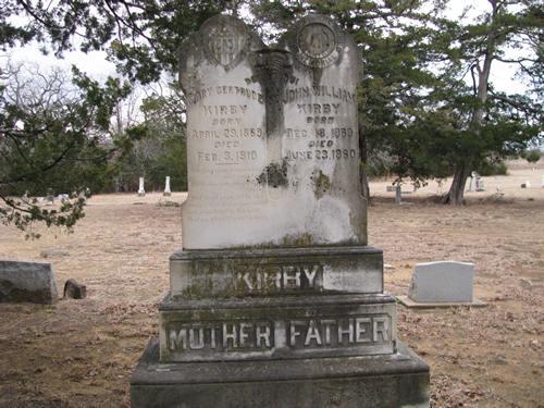 Dexter North Cemetery tombstone, Dexter TX.