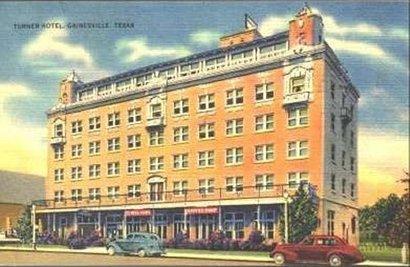 Gainesville Texas Turner Hotel Vintage Postcard