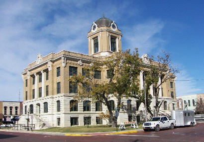 Gainesville Tx Red 1911 Cooke County Courthouse Se Corner