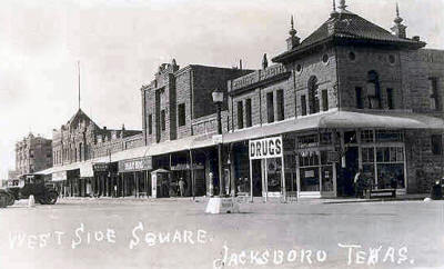 West Side Square Jacksboro Texas 1900s Old Post Card