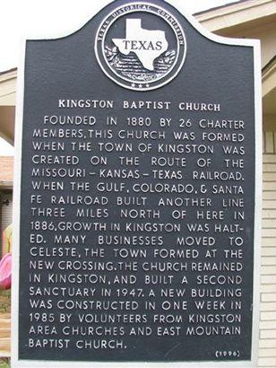 Kingston Texas History Landmarks Historic Churches