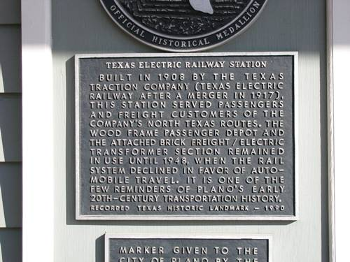 Plano Texas Electric Railway Station hsitorical marker