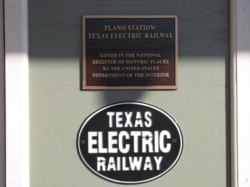 Plano Texas Electric Railway Station  National Register of Historic Places
