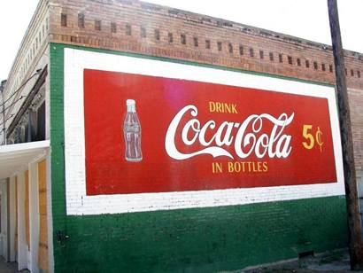 The good old days when Coca-Cola sold for a nickel.