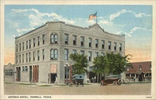 Terrell Texas Artesia Hotel 1916