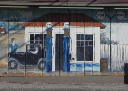 Van texas for Cleveland gas station mural