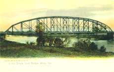Single Span Bridge, Waco, Texas, 1905 post card