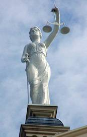 Goddess of Justice, Milam County, Cameron, Texas