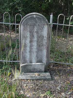 James Gay Tombstone in Gay Hill Cemetery Texas