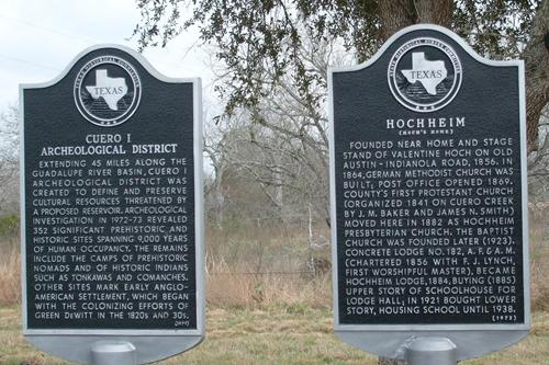 Hochheim Texas historical markers