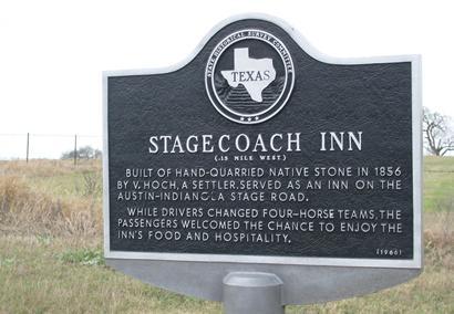 Hochheim Texas Stagecoach Inn historical marker