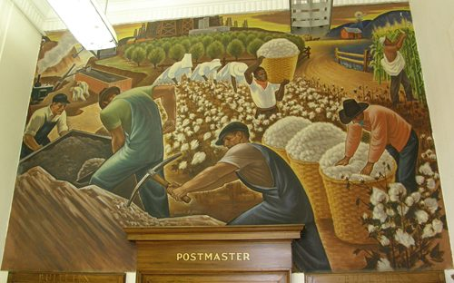 Rockdale Texas post office mural