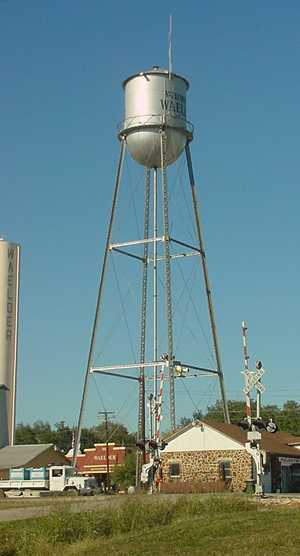 Waelder Texas water tower