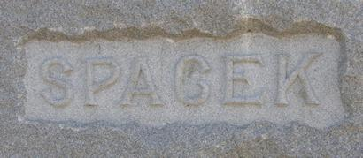 Spacek family headstone