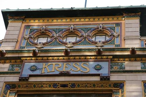 Detail of the former Kress Building in Memphis, Tennessee