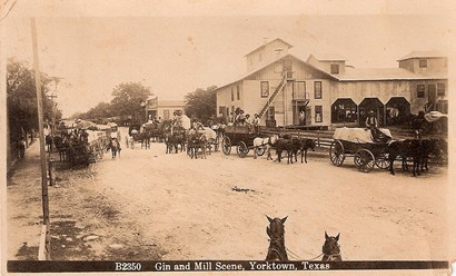 Cotton Gin and Mill Scene, Yorktown, Texas