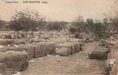 San Marcos TX - Cotton Yard ca 1908