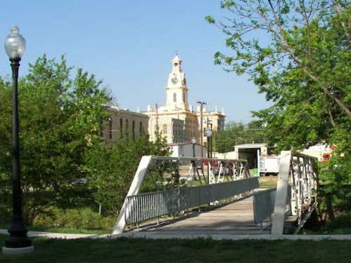 Clarksville Texas Hiking Bridge Jail And Courthouse