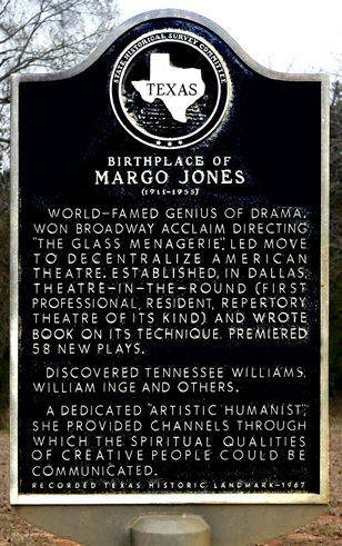 Livingston TX - Margo Jones historical marker