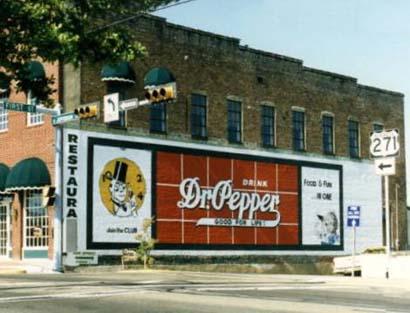 Dr Pepper Sign Mount Pleasant Texas