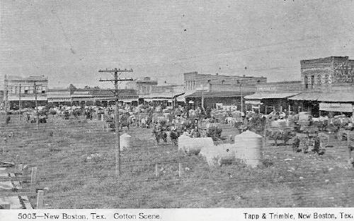 New Boston Cotton Scene Street Texas