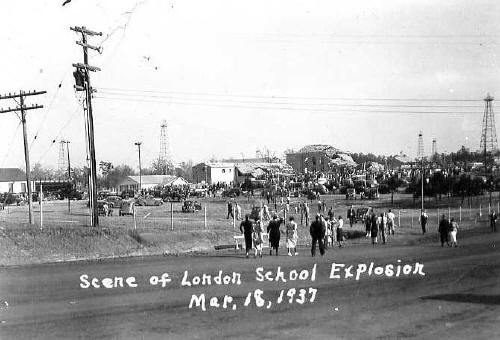 Scene of Now London School Explosion, March 18, 1937