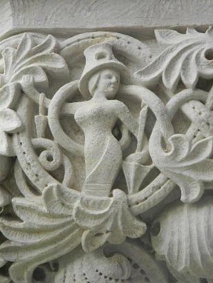 Texas Woman University Houston on Woman With Parasol  Whimsical Stone Carving   Rice University  Lovett