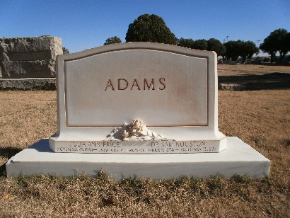 Dr. & Mrs. Sam Houston Adams Tombstone