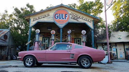 Indian Gap TX - Gulf Gas Station, formerly Comanche's First Railroad Depot
