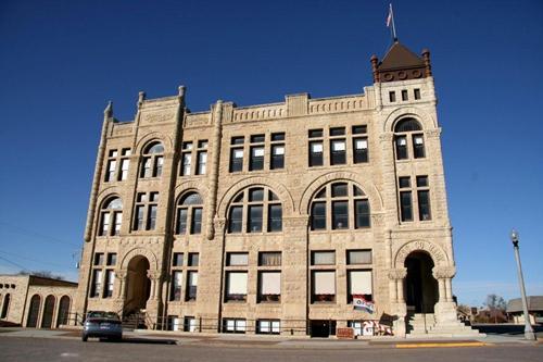 Kansas Ness City Skyscraper 1890 Ness County Bank Building