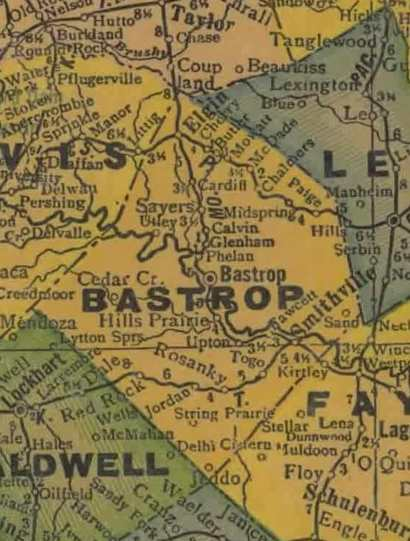 Bastrop County Texas History Town List Vintage Maps