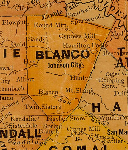 Blanco County Tx History Towns Courthouse Vintage Maps