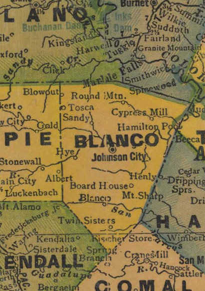 TX Blanco County 1940s Map