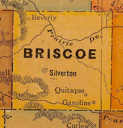 Briscoe County TX - 1920s Map