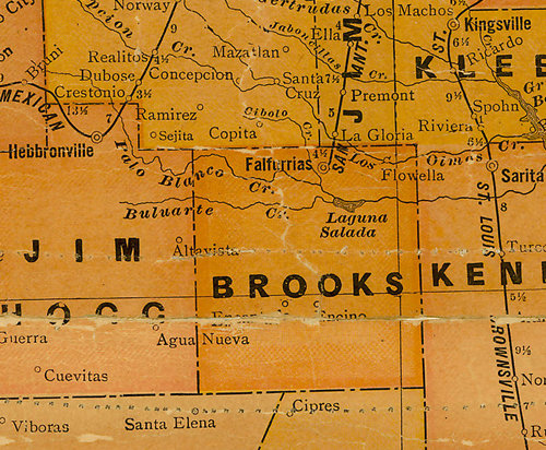 TX Brooks County 1920s Map