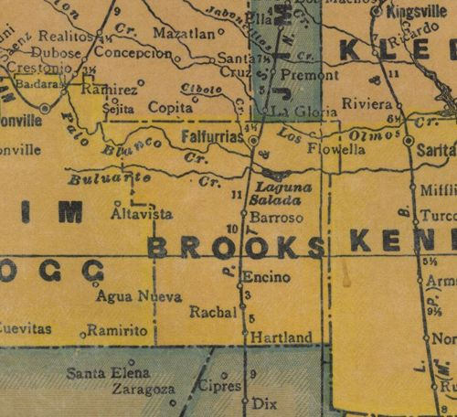 TX Brooks County 1940s Map