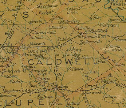 Caldwell County Texas Map