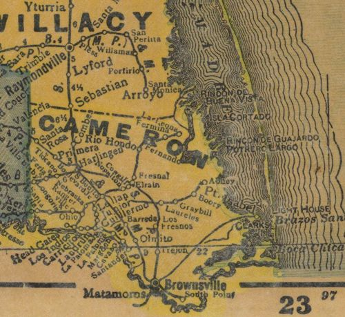 TX Cameron  County 1940s Map