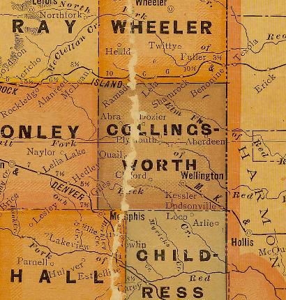 TX Collingsworth County 1920s Map