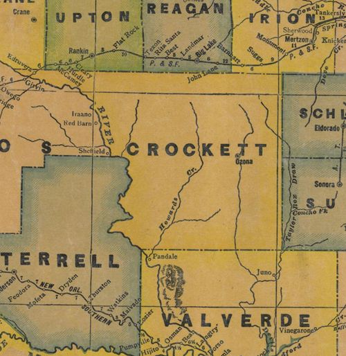 Crockett County TX 1940s map