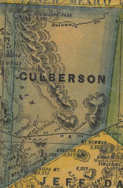 Culberson County Texas Map