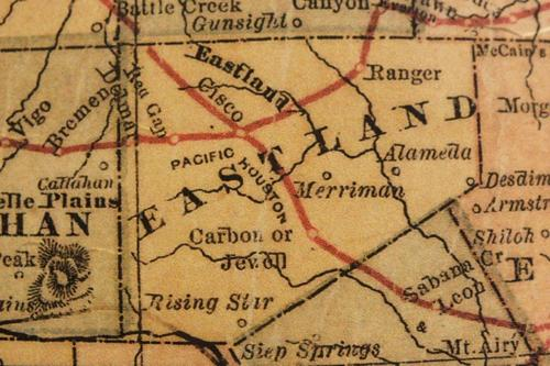 TX Eastland County 1882 Map